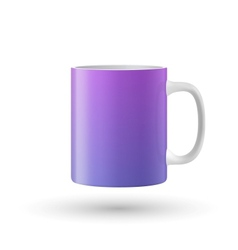 Color mug on white background vector image