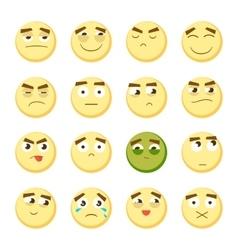 Emoticon set Collection of Emoji 3d emoticons vector image vector image