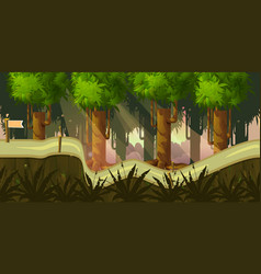 Forest 2d background for game vector