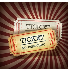 golden and plain tickets vector image vector image