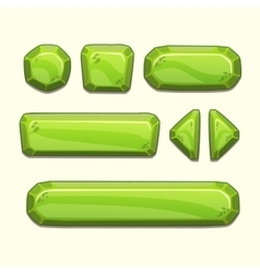 Green buttons set vector image vector image
