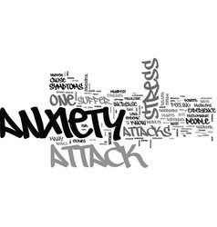 Is it stress or an anxiety attack text background vector