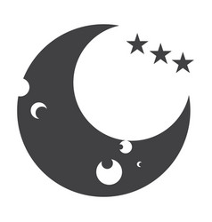 isolated moon icon vector image