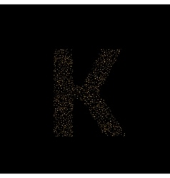 Magic K letter vector image vector image