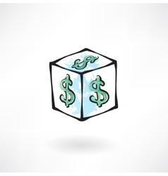 Moneybox grunge icon vector