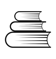 Pile of books simple icon vector