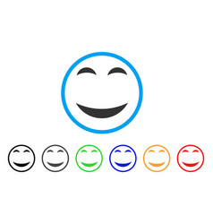 Pleasure smile rounded icon vector