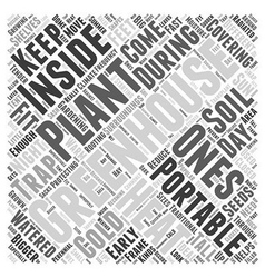 Portable greenhouses word cloud concept vector