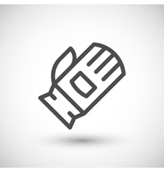 Protective glove line icon vector image