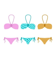 Set of bikini vector