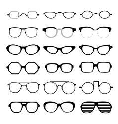 set of different glasses vector image vector image