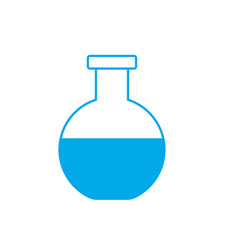 silhouette erlenmeyer flask to lab chemical design vector image