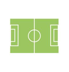 Soccer field symbol vector