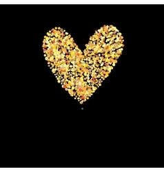 Symbol golden heart vector