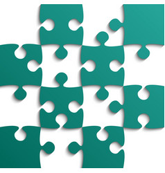 Teal puzzle pieces - jigsaw - field for chess vector