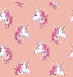 Unicorn and rainbow seamless pattern isolated on vector