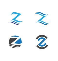 Water wave logo template vector