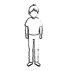 young man avatar character isometric vector image vector image
