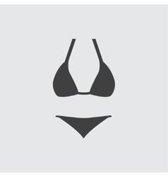 Woman underwear icon vector image