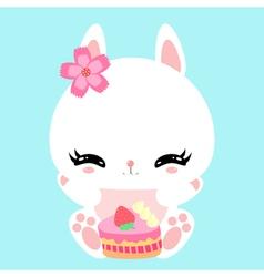 bunny 25 vector image