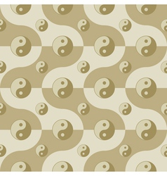 Pattern with yin yang symbols vector