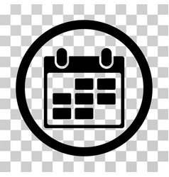 Calendar rounded icon vector