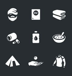 Set of refugee icons vector