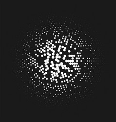 Abstract halftone pattern like a lamp lights vector