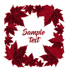 Frame with maple leaves vector