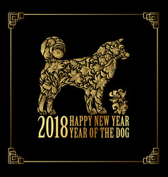 2018 chinese new year year of the dog vector