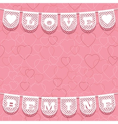 Valentine ornament vector