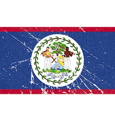 Flag of belize with old texture vector