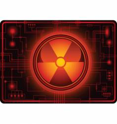 nuclear sign micro schema vector image