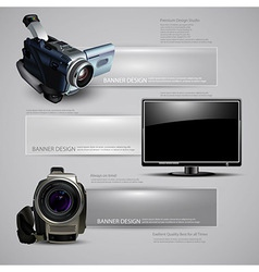 Technology document template vector