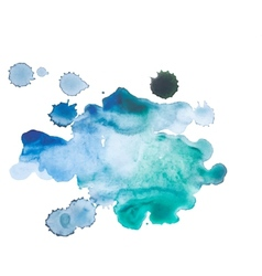 Abstract watercolor aquarelle hand drawn blue art vector