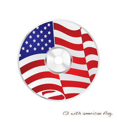 American flag cd vector