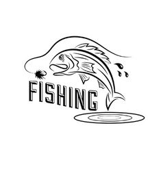 Fishing design template vector
