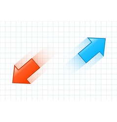 Fast moving arrows vector