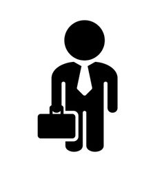 Businessman Simple Icon on White Background vector image