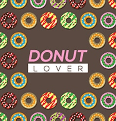 Donut lover background vector