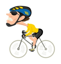 Bicycle athlete vector