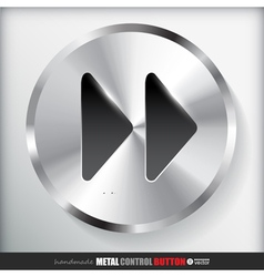 Circle metal fast forward button applicated for vector