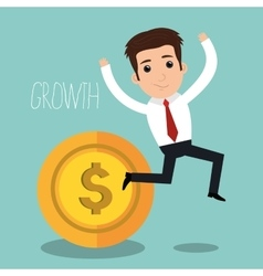Startup of growth design vector