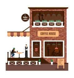 Restaurant or cafe in flat style vector