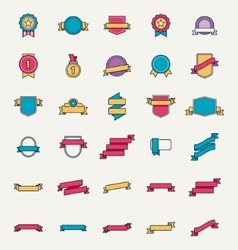 linear badges and ribbons vector image
