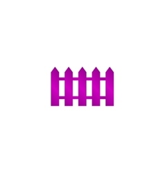 Fence icon flat design style vector