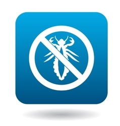 No louse sign icon simple style vector