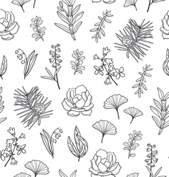 Beautiful floral pattern vector