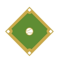camp diamond baseball sport vector image vector image