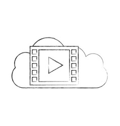 cloud computing with media player vector image